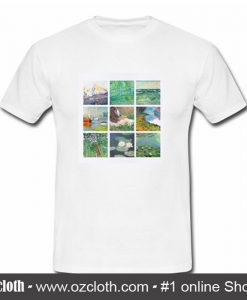 Art Grid of Claude Monet T-Shirt