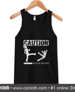 Caution This Is Sparta Cool Tank Top