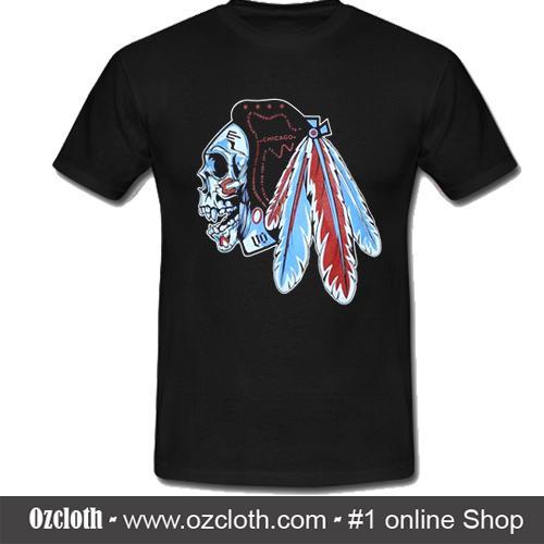 info for 64be6 dccba Chicago Blackhawks Sugar Skull T-Shirt