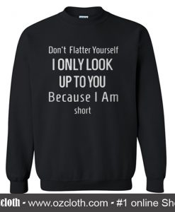 Don't Flatter Yourself Sweatshirt