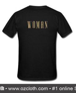 Woman Font T-Shirt Back
