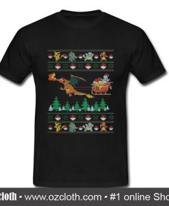 Pokemon Santa Claus ugly Christmas T Shirt