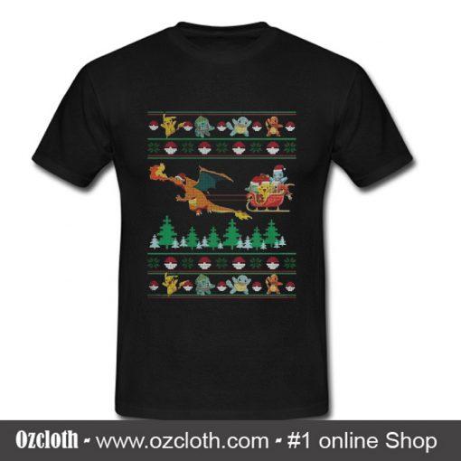 Pokemon Santa Claus ugly Christmas T Shirt