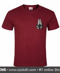 Wolf In Pocket T Shirt