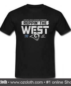 2018 Nfc West Division Champions Reppin The West T-Shirt