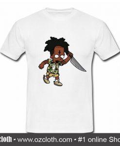 21 Savage Simpson Kill by Knife T Shirt (Oztmu)