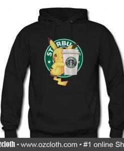 Pikachu Hugging a Starbucks Cup Hoodie (Oztmu)