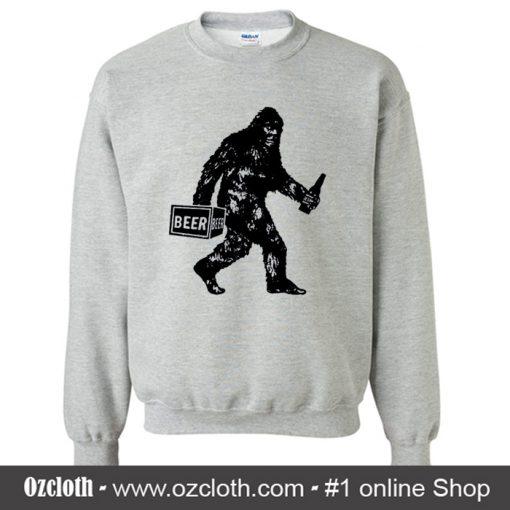 Bigfoot Drinking Beer Sweatshirt (Oztmu)