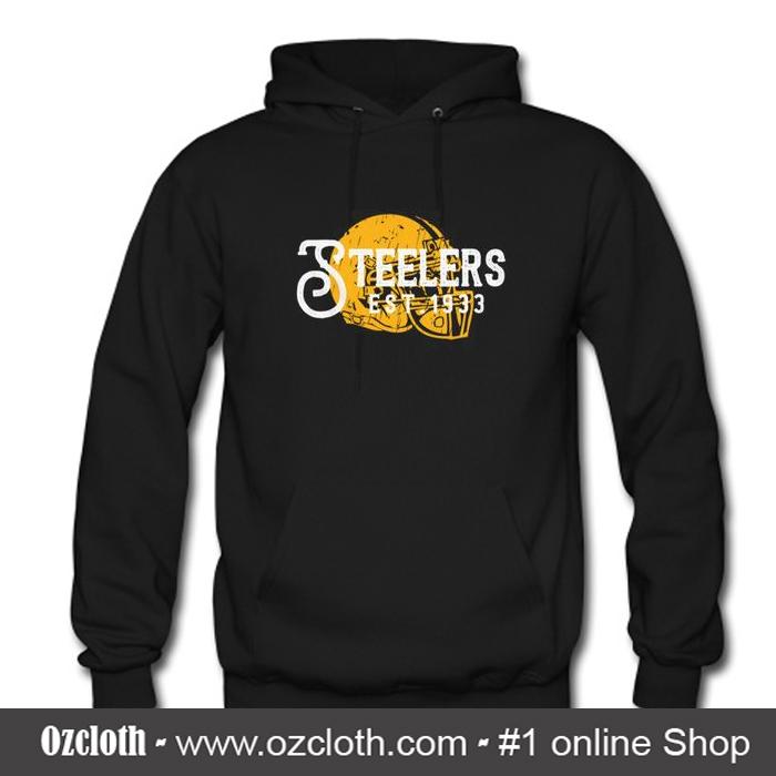 newest 6adeb c96df Vintage Steelers Hoodie (Oztmu)