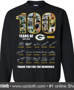 100 Years Of Green Packers -1919-2019 Sweatshirt (Oztmu)