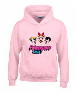 Power Puff Girls Pink Hoodie (Oztmu)