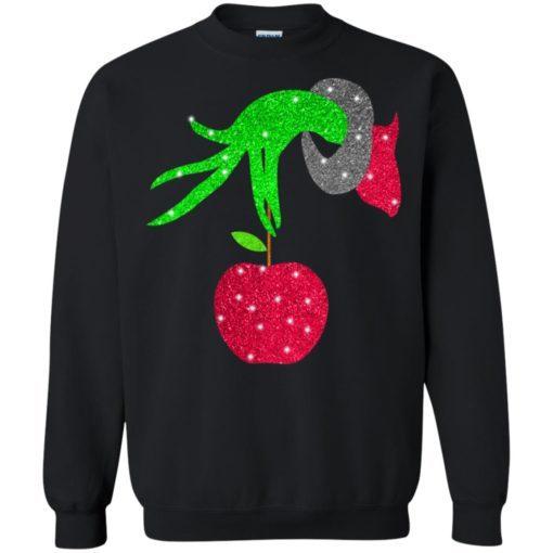 Grinch hand holding Apple Sweatshirt (Oztmu)