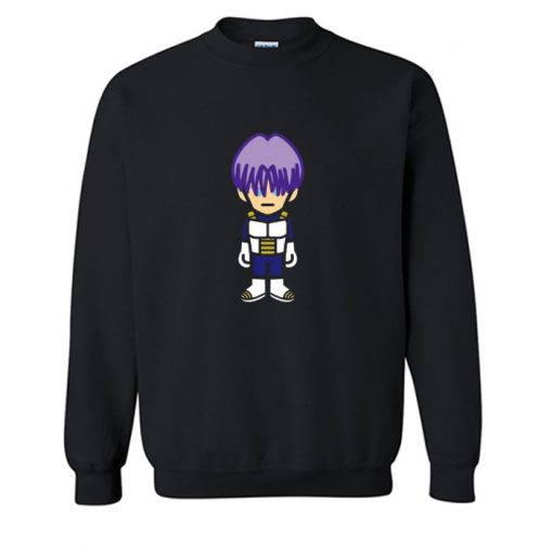 Trunks In Saiyan Armor Dragon Ball Z Sweatshirt Sweatshirt (Oztmu)