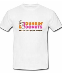 Dunkin donuts america runs on dunkin T Shirt (Oztmu)