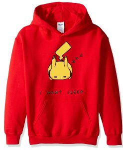 Pokemon Pikachu I Want Sleep Hoodie (Oztmu)